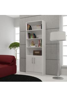 Estante Biblioteca Com 2 Portas Bl 03 Branco - Brv Móveis