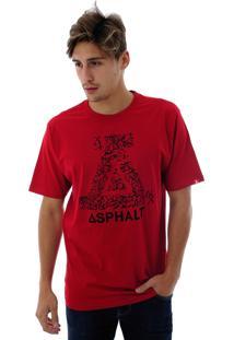 Camiseta Asphalt Roots Branco/Vermelho