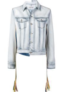 Loewe Jaqueta Jeans Assimétrica - Azul