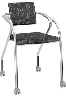 Cadeira Caixa Com 1 Tecil Fantasia Móveis Carraro Preto