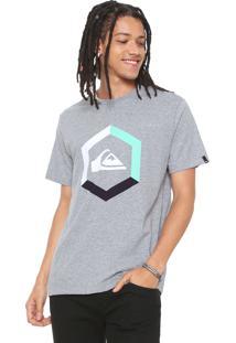 Camiseta Quiksilver Tricolor Cinza