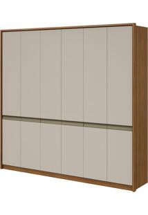 Guarda Roupa Urban New 6 Portas Rovere Naturale/Off White