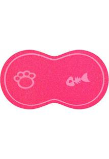 Capacho Cat 40X60Cm Pvc Rosa Pink Pet Kapazi