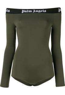 Palm Angels Off-Shoulder Bodysuit - Verde