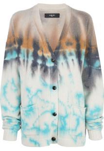 Amiri Cardigan Tie-Dye - Azul