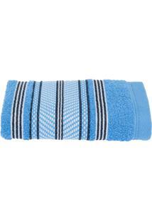 Toalha De Rosto Santista Prata Fio Penteado Allison Azul
