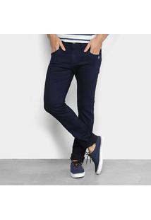 Calça Jeans Zune Slim Faixa Lateral Super Escura Masculina - Masculino