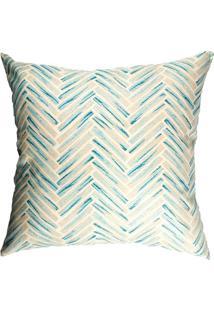 Capa De Almofada Geométrica- Azul & Off White- 42X42Stm Home