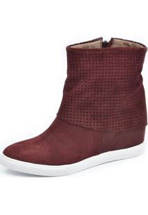 Tênis Sneaker Scarpan Calçados Finos Camurça Vinho
