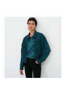 Jaqueta Leve Lisa Com Bolsos | Marfinno | Verde | P