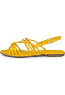 Sandália Rasteira Santorine Ouro Amarelo
