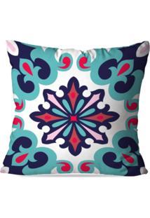 Capa De Almofada Avulsa Decorativa Mandala Multi Color 45X45Cm