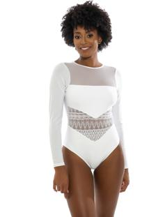 Maiô Kalini Beachwear Renda Resort Ayla White