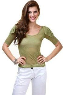 Blusa Fernanda Almeida Shoulder - Feminino-Verde