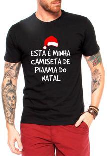 Camiseta Masculina Frases Engraçadas De Natal Presente Preta