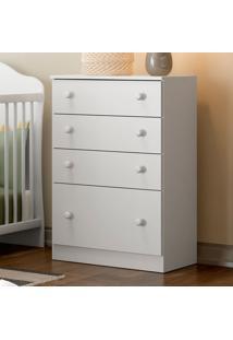 Comoda De Bebê 4 Gavetas New Sorteve Seco Branco - Multimóveis