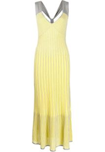 M Missoni Vestido Longo Acinturado - Amarelo
