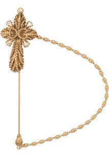 Dolce & Gabbana Crucifix Brooch - Dourado