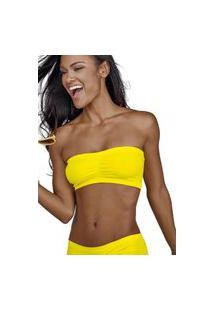 Sutiá Bustiê Faixa Ultraleve Demillus 78900 Amarelo Neon