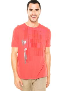 Camiseta Calvin Klein Jeans Foil Vermelha