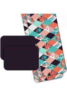 Jogo Americano Love Decor Wevans Com Caminho De Mesa Flamant Abstract Colorido - Multicolorido - Dafiti
