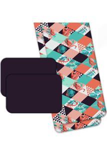 Jogo Americano Love Decor Wevans Com Caminho De Mesa Flamant Abstract Colorido