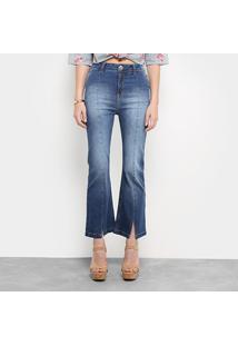 10c6e91a06b29 ... Calça Jeans Flare Colcci Gisele Cropped Cintura Alta Feminina -  Feminino-Jeans