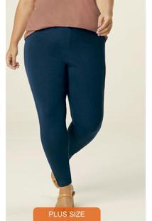 Calça Azul Marinho Legging Feminina Plus