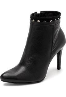 Bota Sandalo Clave De Fa Elis Feminina - Feminino-Preto