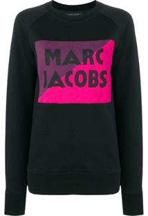 Marc Jacobs Logo Colour-Block Sweater - Preto