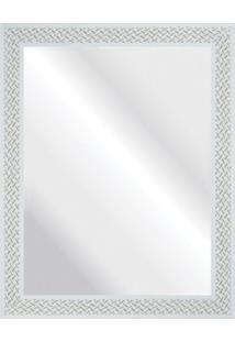 Espelho Branco Riscado 37X47Cm