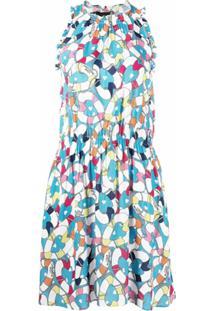 Love Moschino Vestido Sem Mangas Com Estampa De Coração - Azul
