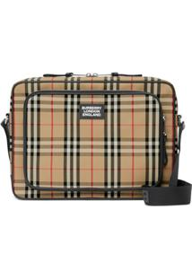 Burberry Vintage Check Messenger Bag - Marrom