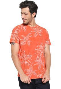 Camiseta Aramis Floral Laranja