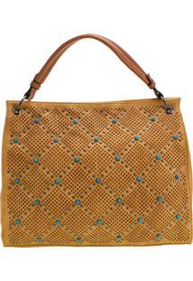 Bolsa Feminina Arara Dourada - Lt8146 Amarelo