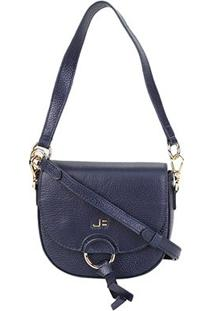 Bolsa Couro Jorge Bischoff Mini Bag Feminina - Feminino-Marinho