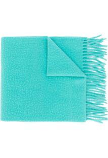 Acne Studios Cachecol De Lã Com Franjas - Azul