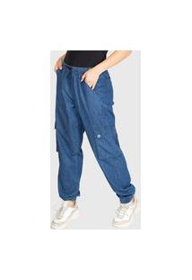 Calça Jeans Presence Cargo Blue