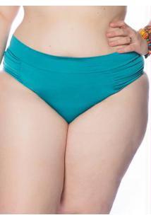 a1ae750cb ... Calcinha De Biquini Plus Hot Pant Azul Janfer