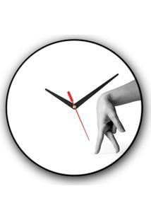 Relógio De Parede Colours Creative Photo Decor Decorativo, Criativo E Diferente - Mão Caminhando