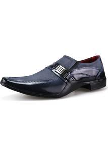 Sapato Social Neway Masculino Preto E Cinza