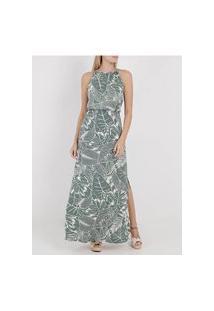 Vestido Longo Autentique Feminino Verde