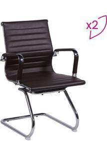 Or Design Jogo De Cadeiras Office Eames Esteirinha Cafã© & Prateado 2Pã§