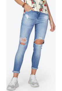 aabb27137 ... Calça Jeans Skinny Destroyed