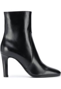 Saint Laurent Bota Jane Com Salto 90Mm - Preto