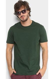 Camiseta Calvin Klein Básica Masculina - Masculino-Verde
