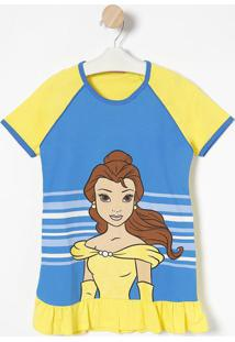 "Camisola "" Princesas ""Disney®"" - Amarela & Azullupo"