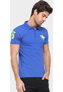 Camisa Polo Rg 518 Piquet Bordado Contraste Color - Masculino