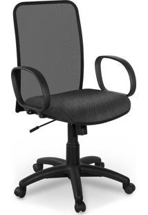 Cadeira Diretor Tela Master Preta Braã§O - Cinza - Dafiti