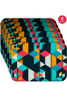 Jogo Americano Love Decor Wevans Colorful Polygonal Kit Com 6 Pçs